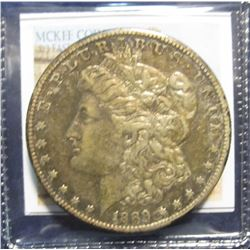 867. 1889 S Morgan Silver Dollar. VF 20. Low mintage of only 700,000.