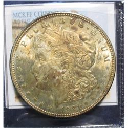 869. 1921 P Morgan Silver Dollar. Full Superbly toned Almost Uncirculated.
