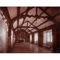 3 Black White Photographs Of Mourne Park The Long Room Decorated For Coming Age Vis