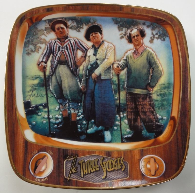 The Three Stooges Par For The Worse Limited Edition Plate