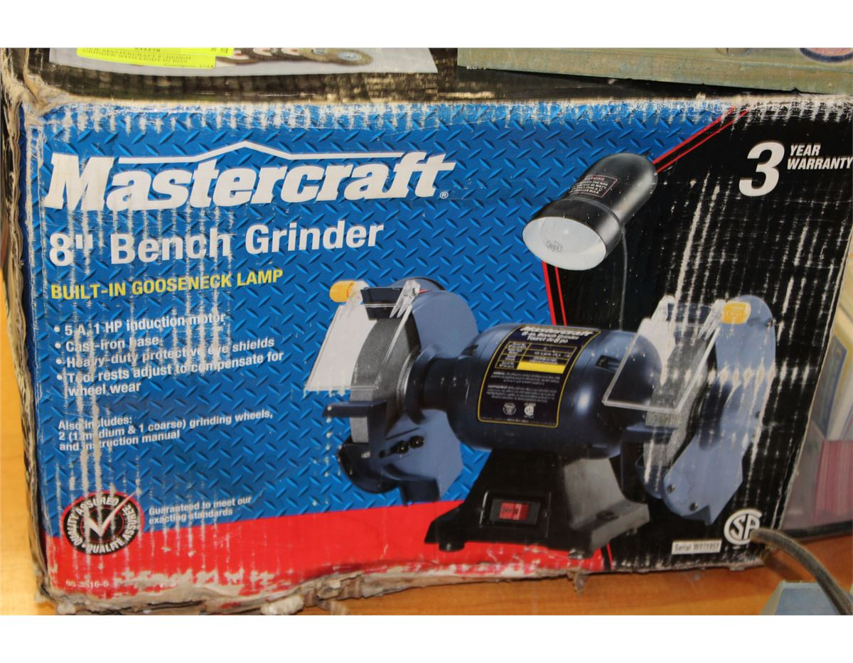 New Mastercraft 8 Quot Bench Grinder With Light In Box