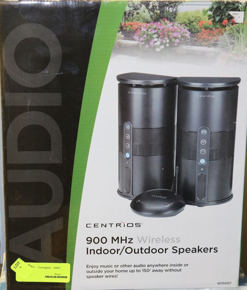 CENTRIOS 900MHZ INDOOR OUTDOOR WIRELESS SPEAKERS Loading Zoom