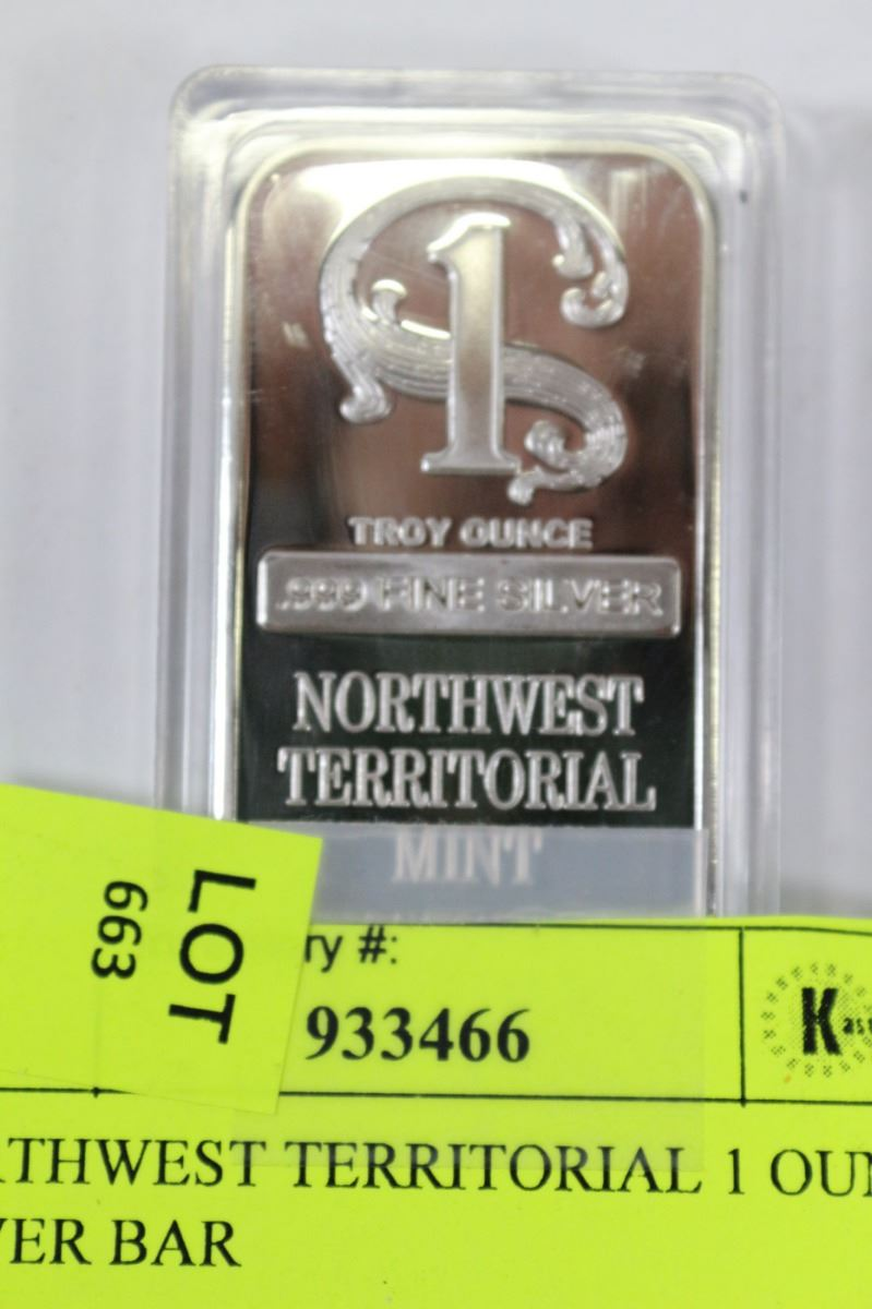 Northwest Territorial 1 Ounce Silver Bar