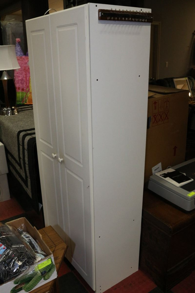 white pantry cabinet 69 tall x 20 5 wide kastner auctions