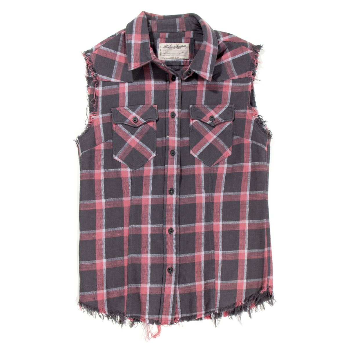 Lisbeth salander red black plaid flannel with cut off for How to cut sleeves off a shirt
