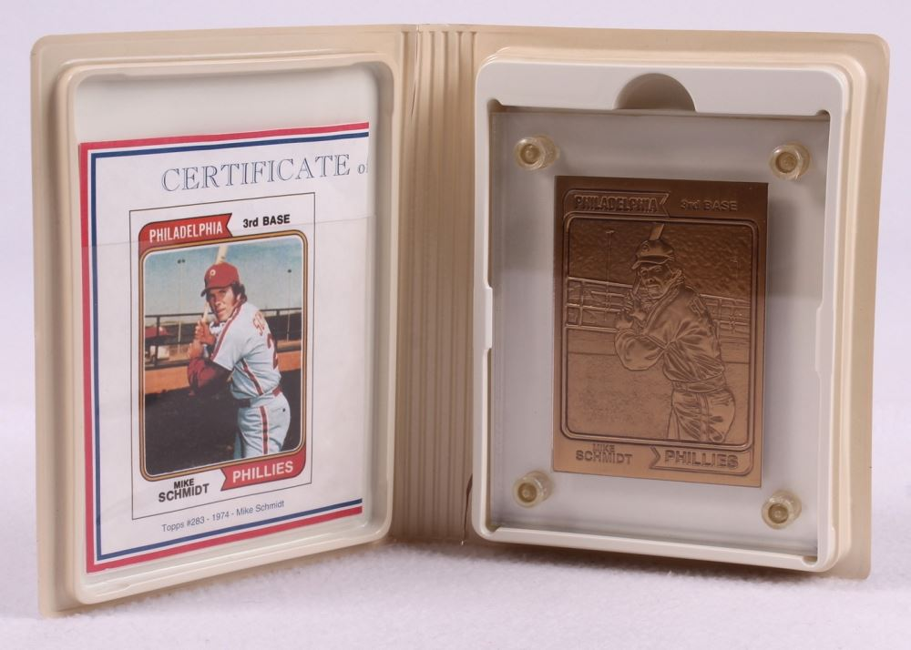 Mike Schmidt LE 1974 Topps #283 Solid Bronze Baseball Card from ...
