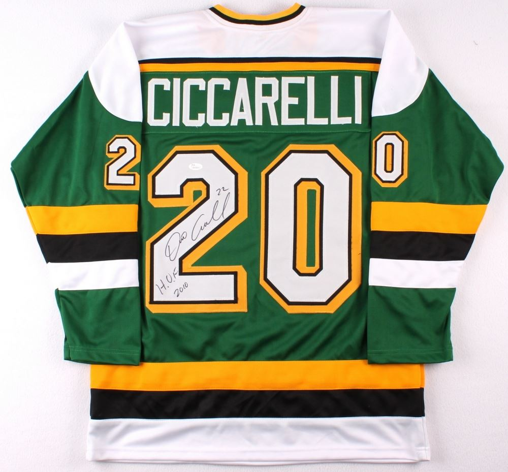 Dino Ciccarelli Signed North Stars Jersey Inscribed