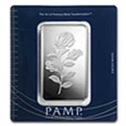 100 Gram Pamp Suisse Silver Bar Rosa In Assay