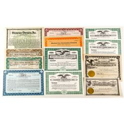 Automobile Stock Certificate Collection 1