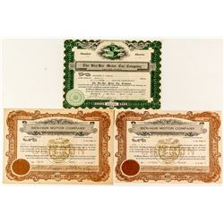 Ben-Hur Motor Car Company Stock Certificates
