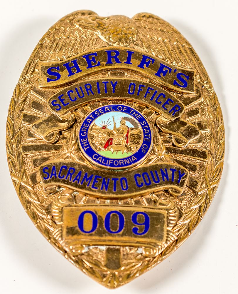 image 1 gold sheriffs security officer badge