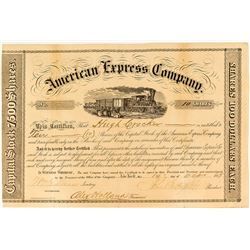 american express company stock certificate butterfield