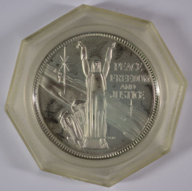 25th Anniversary United Nations Sterling Silver Coin Medal