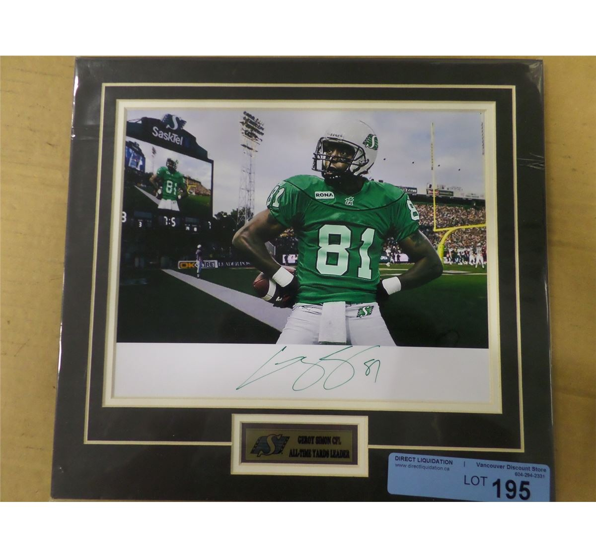 Signed Matted Geroy Simon Photo 8x10