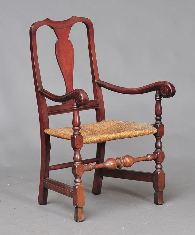 Image 1  Wallace Nutting Queen Anne Armchair  Queen Anne Armchair93