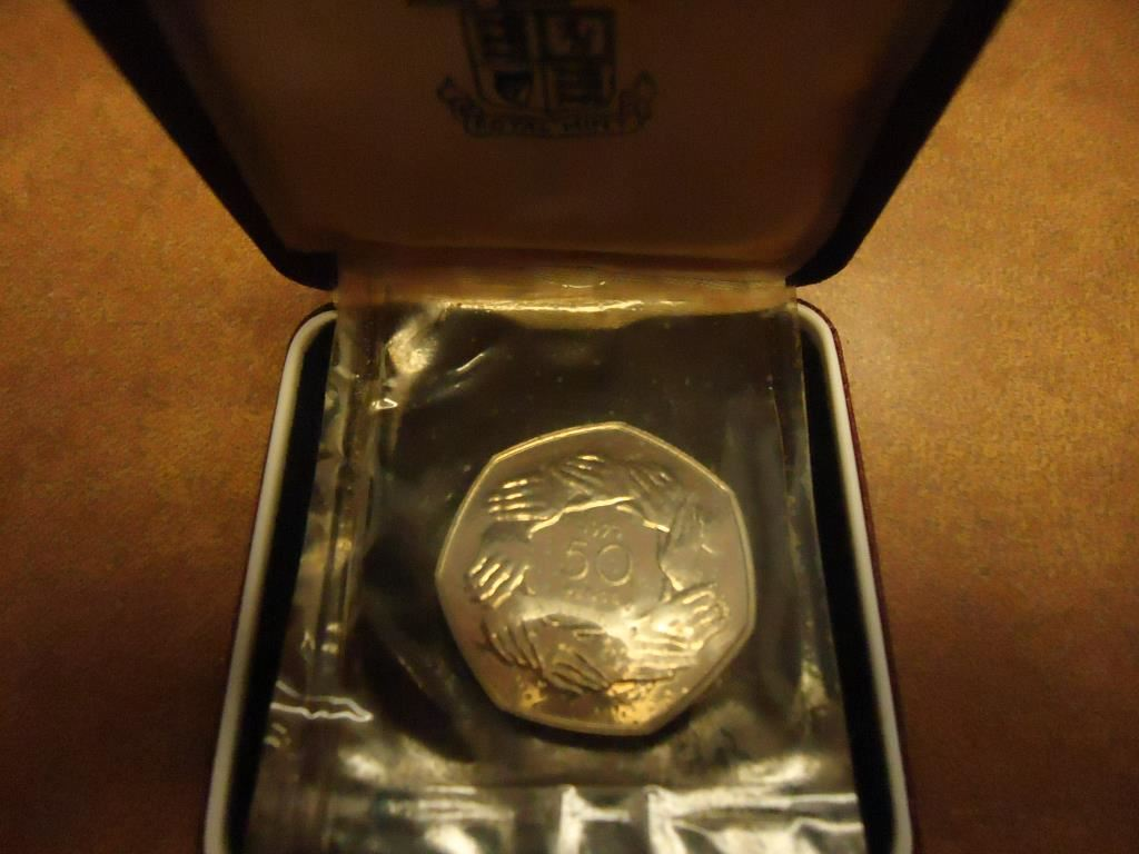 1973 United Kingdom 50 Pence Proof Original Royal Mint