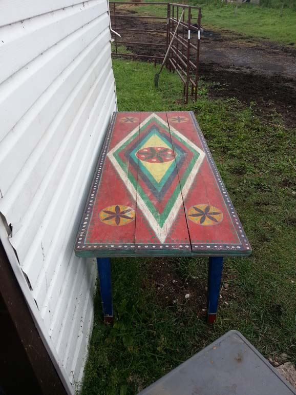 Ukrainian decorated 8ft dining room table for 8ft dining room table