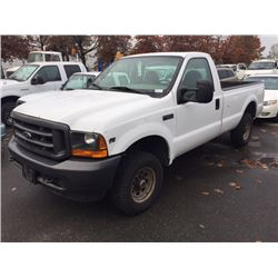 2001 ford f 250 xl super duty 2 door pu white vin 1ftnf21l11ec22303 able auctions. Black Bedroom Furniture Sets. Home Design Ideas