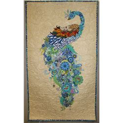 "29"" x 49"" Wallhanging. ""Moment of Rest"" is an original quilt by Gerri Campbell. This art/collage wal"