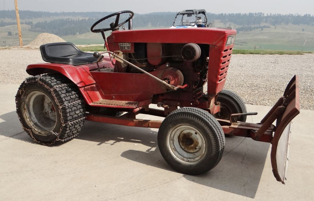 12 Wheel Tractor : Wheel horse charger model lawn tractor