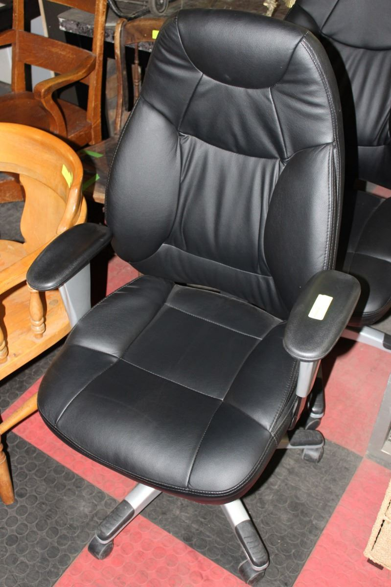 Hydraulic Furniture Lift : Black leather hydraulic lift chair