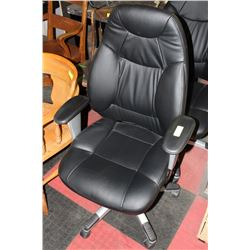 black leather hydraulic lift chair