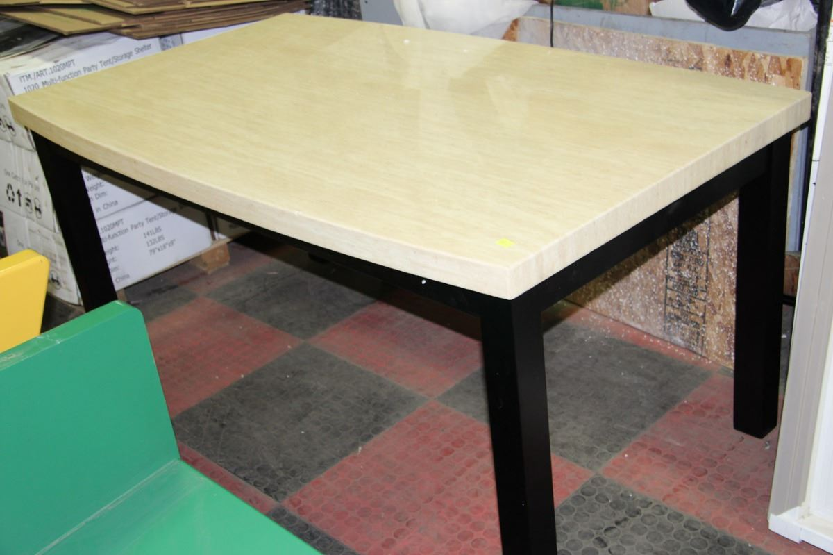 faux marble top kitchen table kastner auctions
