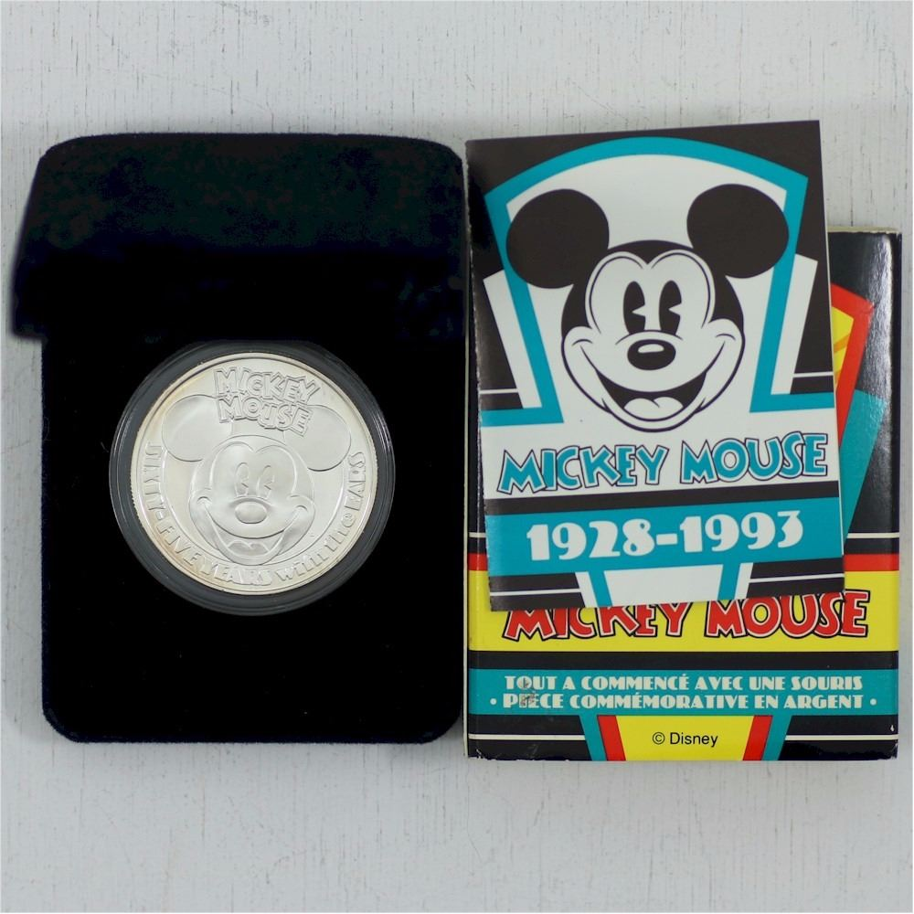 1928 1993 Mickey Mouse 65th Anniversary Proof 1oz 999