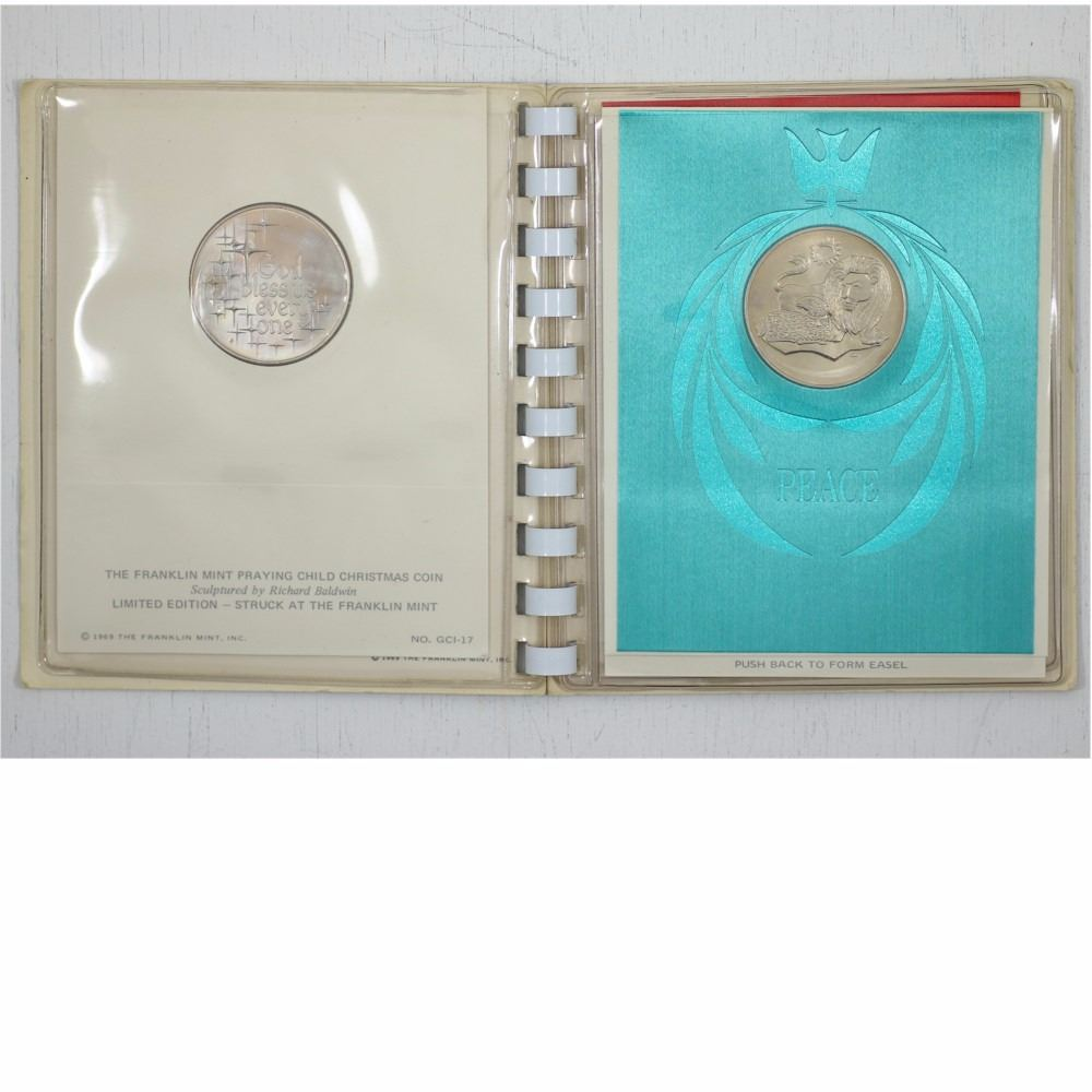 1969 franklin mint christmas 3 coin medallic greeting card album 1969 franklin mint christmas 3 coin medallic greeting card album this album contains their limited m4hsunfo