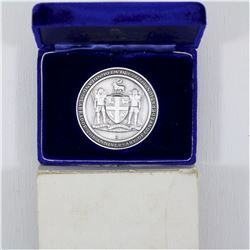 1949-1974 .999 Fine Silver Newfoundland & Labrador 25th Anniversary of the Confederation Medal with