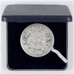 1815 Benedetto Pistrucci's Waterloo Sterling Silver Medal (John Pinches Ltd.). Limited to an edition