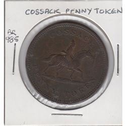 1813 Wellington Cossack Penny Token Breton 985.