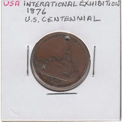 1876 Struck within the International Exhibition. Diameter 24mm