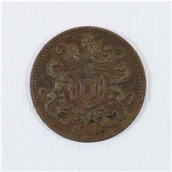 1846 Rutherford 1/2 Penny Token NFLD Harbour Grace