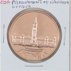 Parliament of Canada Ottawa depicting Maple Leaf and Parliament buildings. Diameter 35mm