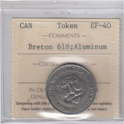 Breton 618; Aluminum ICCS Certified EF40 (holder has pinholes)
