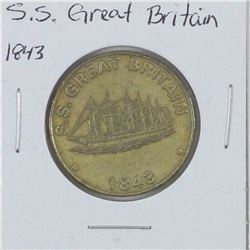1843 S.S. Great Britain Entrance. Diameter 30mm