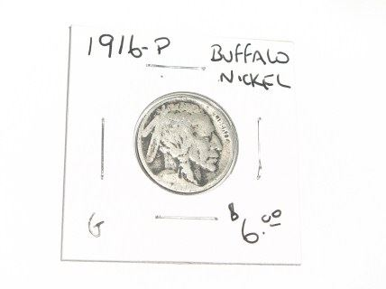 1916-P BUFFALO NICKEL RED BOOK VALUE $6.00+ *NICE EARLY