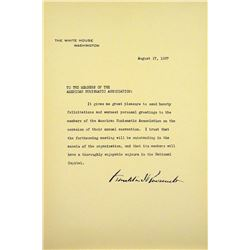 FDR's Letter to the 1937 ANA Convention