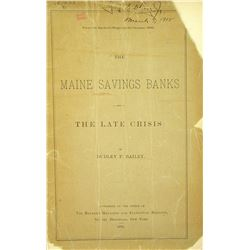 1880 History of the Maine Savings Banks