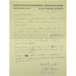 Handwritten Breen Authentication Letter