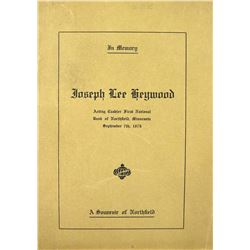 A Scarce Bank Publication Relating to the James Gang