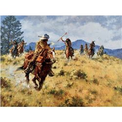 A Narrow Escape - The Pony Express, 1861