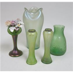 5 Art Glass Vases