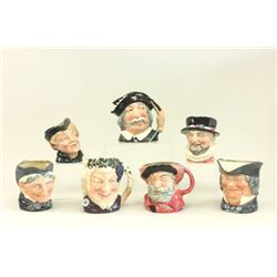 7 Royal Doulton Character Toby Mugs