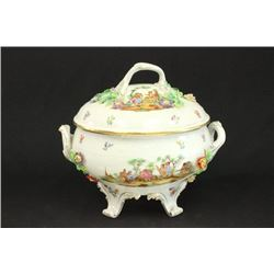 Dresden Porcelain Covered Tureen
