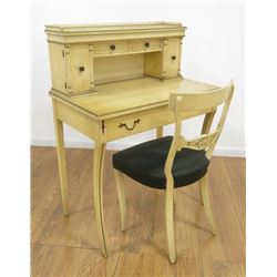 White Painted Ladies Desk with Chair