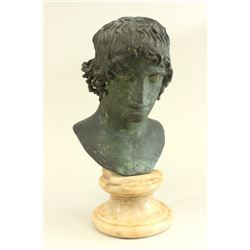 Neapolitan Bronze Bust of A Youth