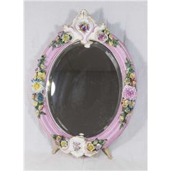 Porcelain Oval Table Mirror