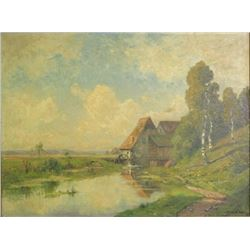 Rural Landscape Germany Oil on Canvas